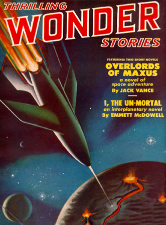 Cover to Thrilling Wonder ~ Feb 51